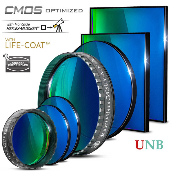 Baader 4nm Ultra-Narrowband OIII Filter - CMOS-Optimized