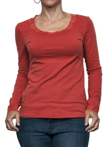 Jersey Lace Scoop Neck Tee