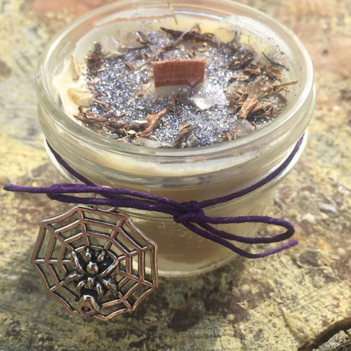 The Norns, weavers of fate, beeswax wood wick candle