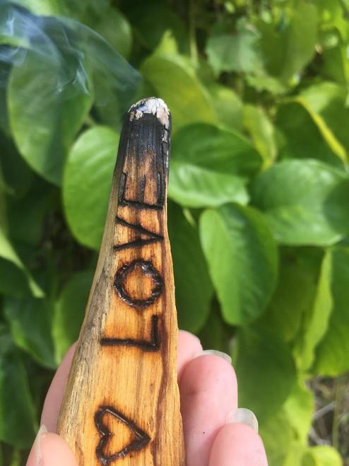 Custom Wood Burned Palo Santo
