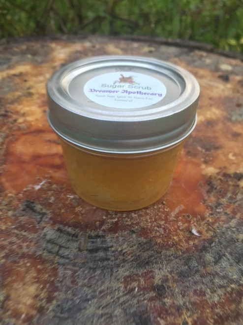 Wildflower honey and rose sugar scrub