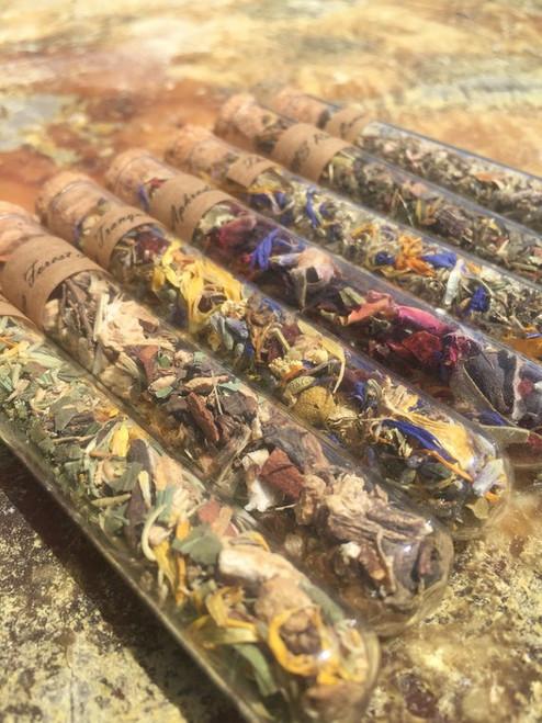 organic herbal tea samples