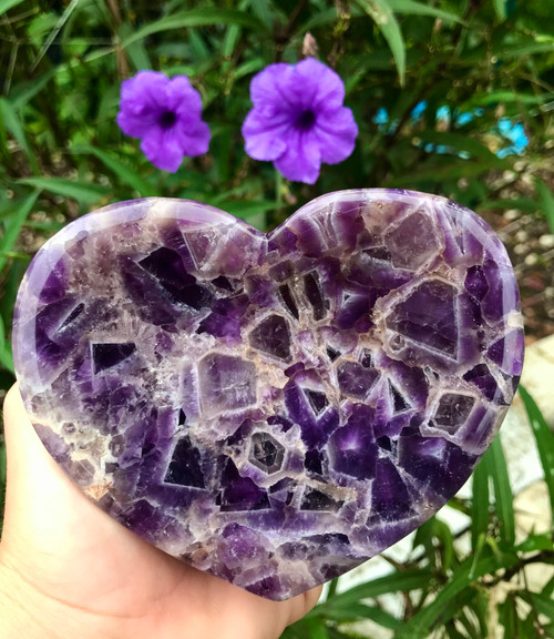 Chevron Amethyst Heart Shaped Bowl