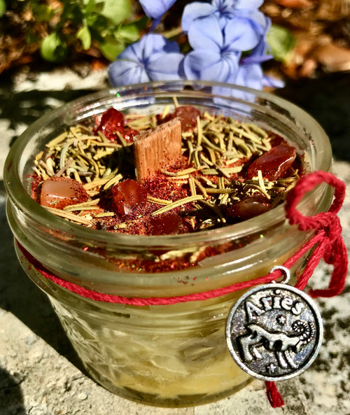 Aries Beeswax Wood Wick Candle