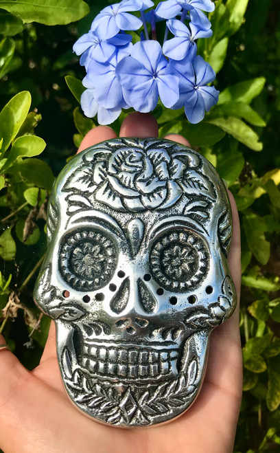 Sugar skull incense burner