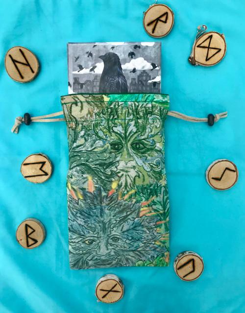 Green Man Divine Light Divination Bag