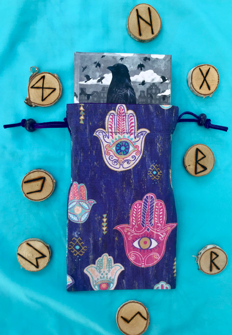 Hamsa Divine Light Divination Bag