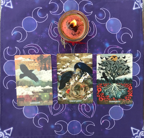 Goddess Triple Moon Divine Light Divination Cloth