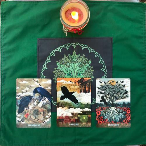 Green Man Divine Light Divination Cloth