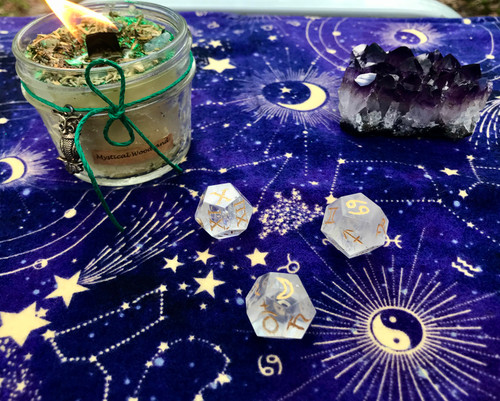 Quartz Astrology Dice