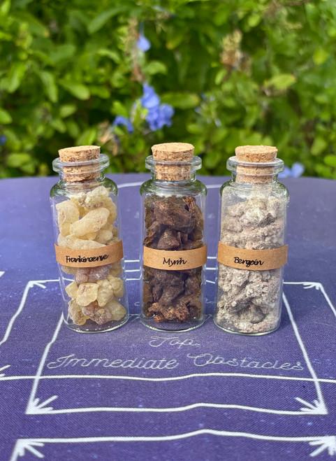 Resin Set - Frankincense, Myrrh, Benzoin
