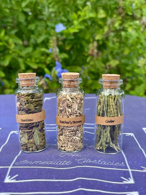 Protection Herb Set - Cedar, Uva Ursi, Butcher's Broom
