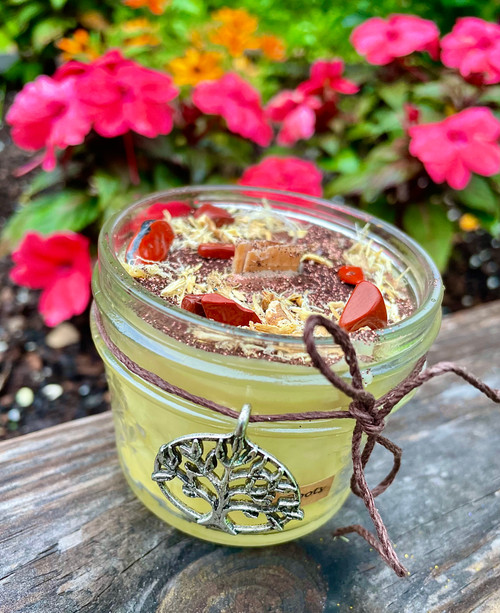 Roots Beeswax Wood Wick Candle