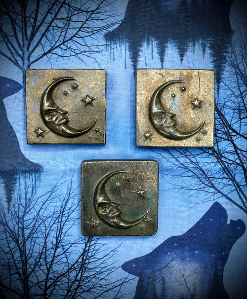 Pyrite Moon Altar Tile