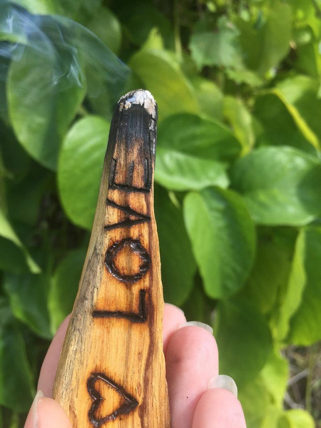 Custom Wood Burned Palo Santo