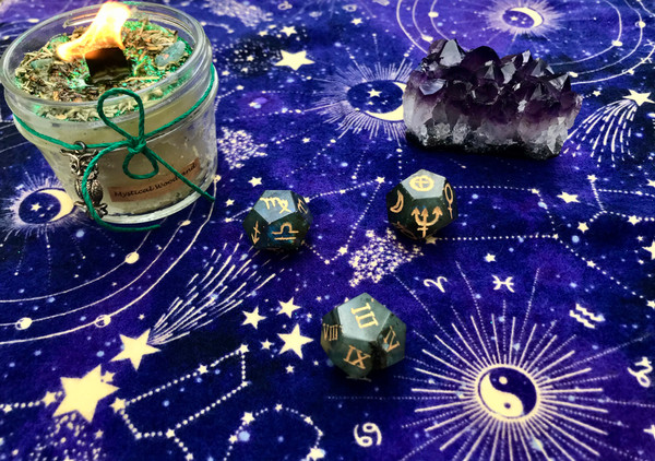 Labradorite Astrology Dice