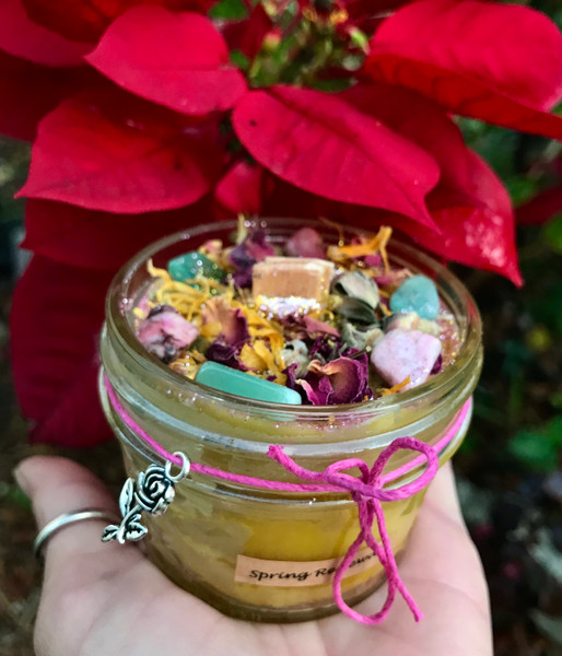 Spring Renewal Beeswax Wood Wick Candle