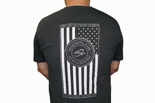 SNOWFLAKE RESISTANT / MWS - Tee Shirt Logo / Flag - Charcoal