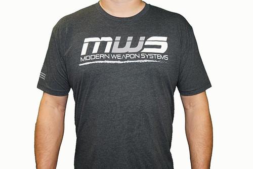 SNOWFLAKE RESISTANT / MWS - Tee Shirt Logo / Flag - Charcoal - MENS