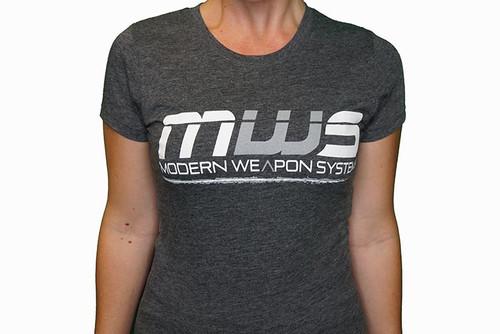 SNOWFLAKE RESISTANT / MWS - Tee Shirt Logo / Flag - Charcoal - WOMENS