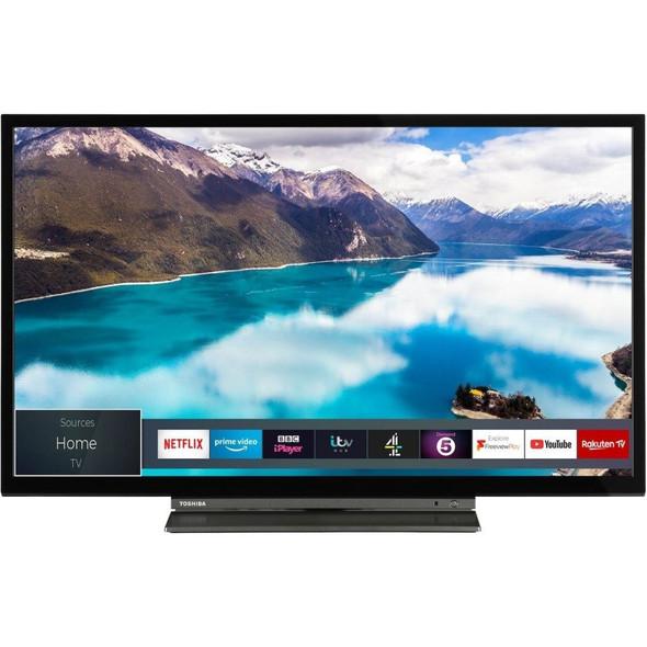 "Toshiba, 24WL3A63DB, 24"" HD Ready HDR Smart TV, Black"