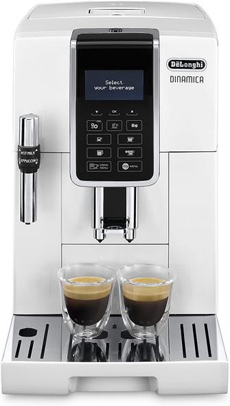 Delonghi, ECAM350.35.W, Dinamica Bean to Cup Coffee Machine, White