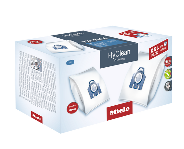 Miele, 10408410, Hyclean 3D Efficiency Dustbag type GN - XXL Multipack