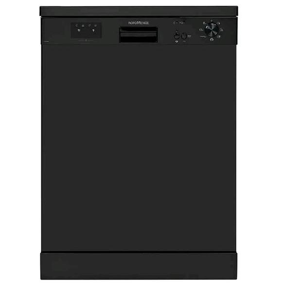 Nordmende, DW67BL, 60cm Freestanding Dishwasher, Black