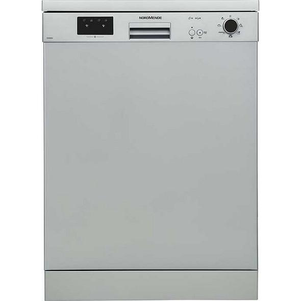 Nordmende, DW67SL, 60cm Freestanding Dishwasher, Grey