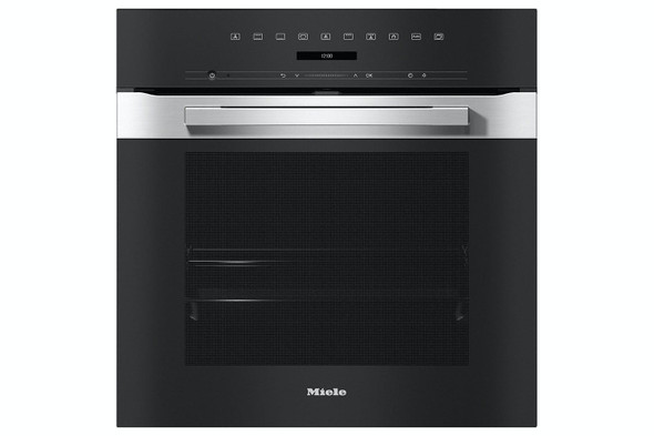 Miele, H7260BP, 60cm PureLine Pyrolytic Built-In Oven, Black