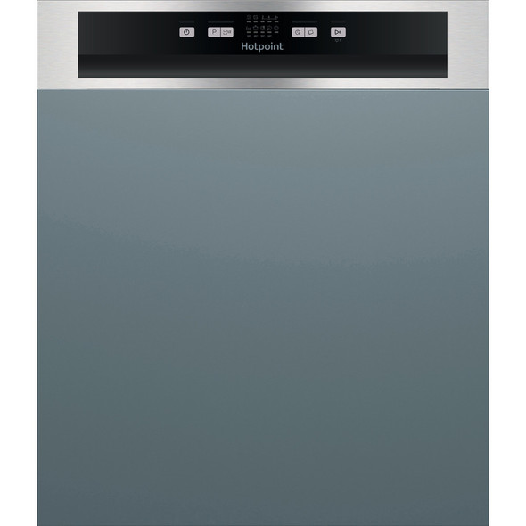 Hotpoint, HBC2B19XUKN, HOTPOINT SEMI INTEGRATED DISHWASHER: FULL SIZE, INOX COLOR, Stainless Steel