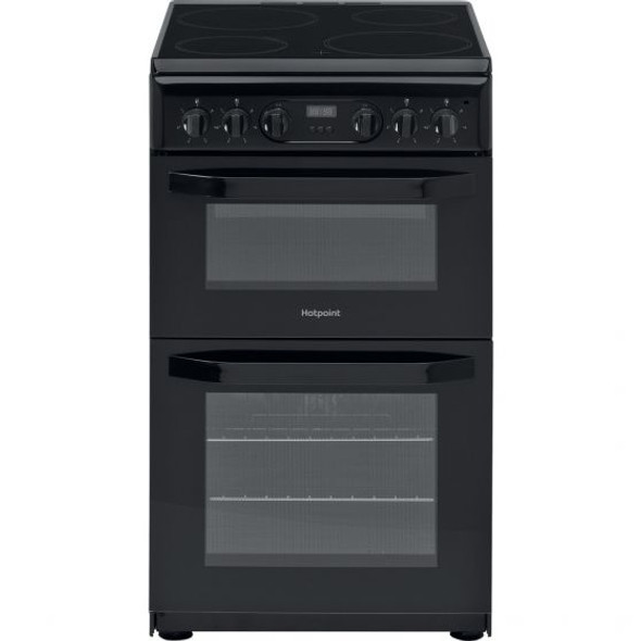 Hotpoint, HD5V93CCB, Electric Freestanding Double Cooker, Black