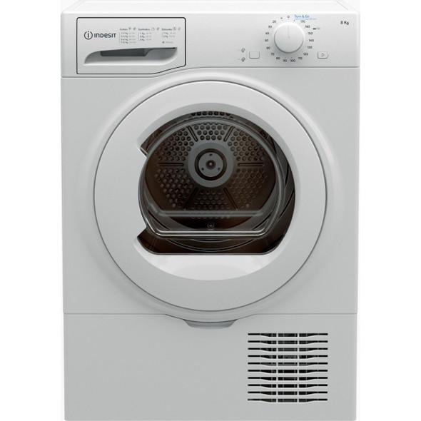 Indesit, I2D81WUK, 8Kg Condenser Tumble Dryer, White