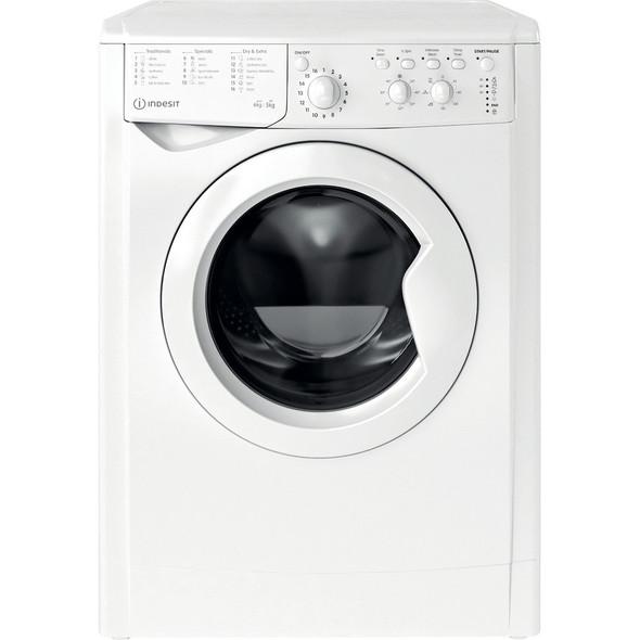Indesit, IWDC65125, Ecotime Washer Dryer, White