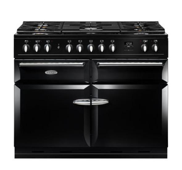 Stanley Supreme, SDL110DFBLK/, Stanley Supreme Deluxe 110cm Dual Fuel Range Cooker, Black