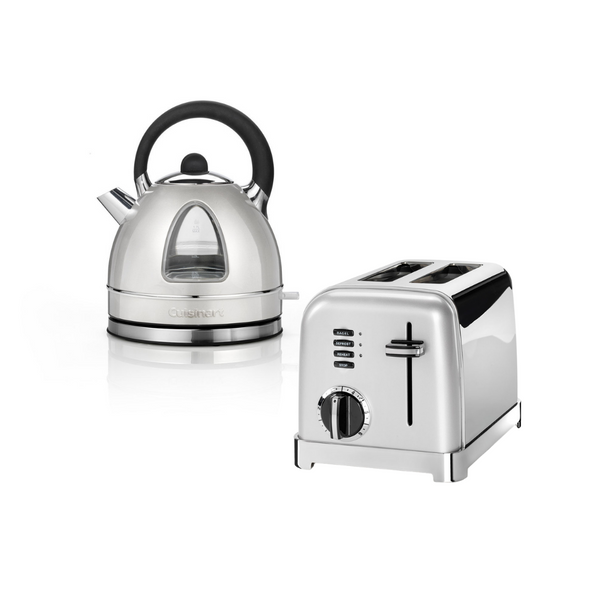 Cusisinart, Traditional Kettle & Toaster Set, Silver