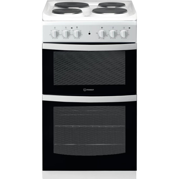 Indesit, ID5E92KMW, Electric freestanding double cooker: 50cm, White
