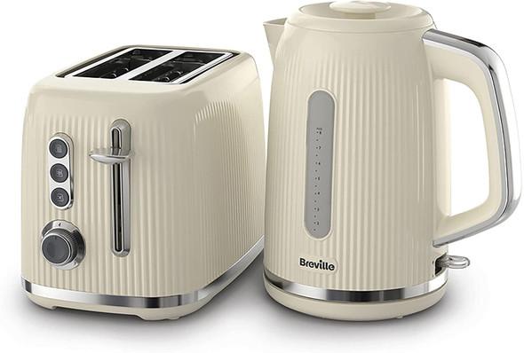 Breville, VKT223+VTR003, Bold Textured Kettle & Toaster Set, Multi