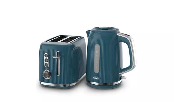Breville, VKT226+VTR014, Bold Textured Kettle & Toaster Set, Blue
