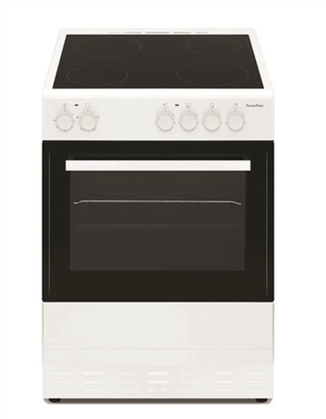 Powerpoint, P06C1S1W, 60cm Single Cavity Ceramic Top Cooker, White