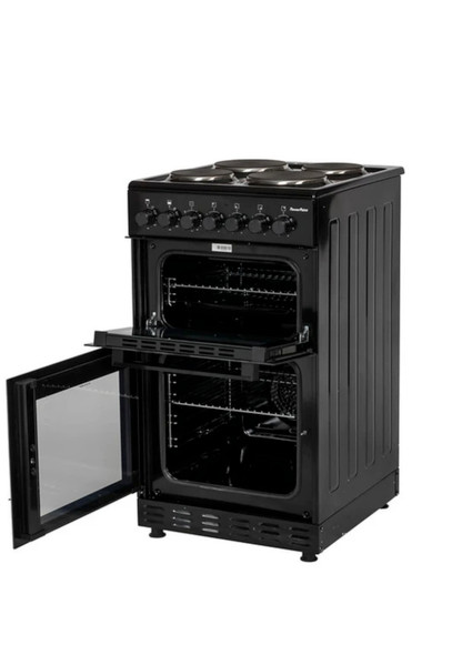 Powerpoint, P05E2S1BL, 50cm Double Cavity With Solid Hob, Black