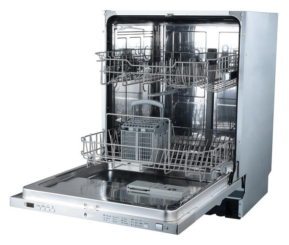 Powerpoint, P3612ELGINT, 12 Place Built In Dishwasher, Grey
