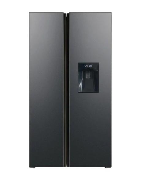 Powerpoint, P9458SWDBL, American Style Fridge Freezer, Black