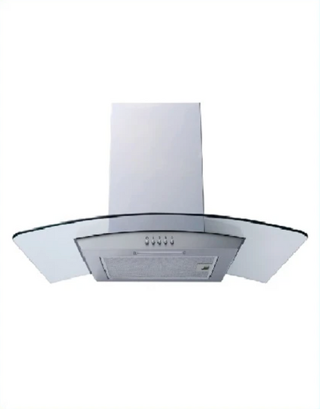 Powerpoint, P21390XBSS, 90CM CURVED GLASS HOOD, Stainless Steel