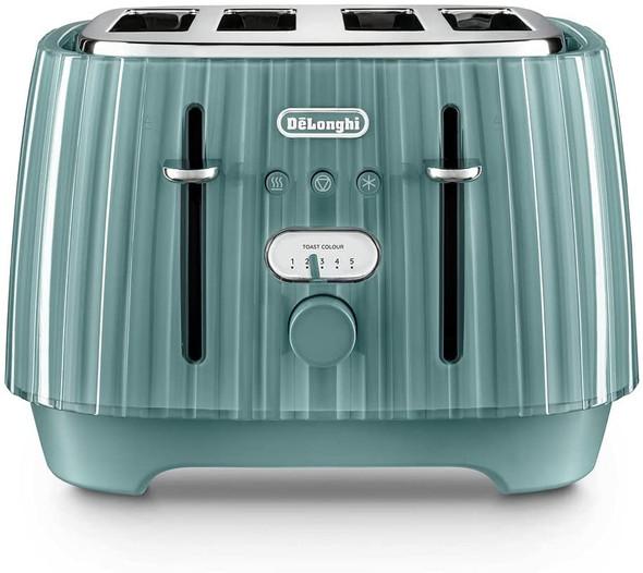 De'Longhi, CTD4003.GR, Ballerina 4 slice toaster , Green