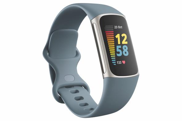 Fitbit, FB421SRBU, Charge 5, Steel Blue/Platinum