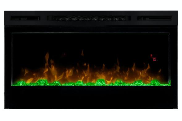 "Dimplex, BLF3451EU, 1.1KW Prism 34"" Wall Mount Electric Fireplace, Black"