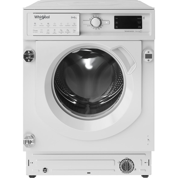 Whirlpool, BIWDWG961484, Integrated Washer Dryer 9kg Wash 6kg Dry, White
