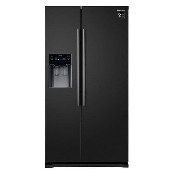 Samsung, RS50N3413BC, American Fridge Freezer, Black