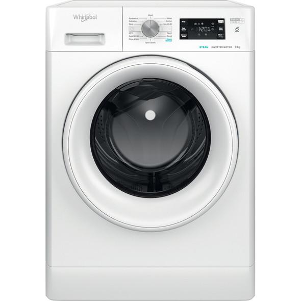 Whirlpool, FFB9448WVUK, Freshcare 9kg 1400 Spin 6th Sense Washing Machine, White